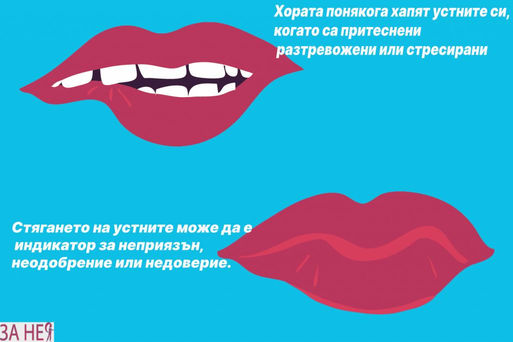 невербални знаци и сигнали на устните