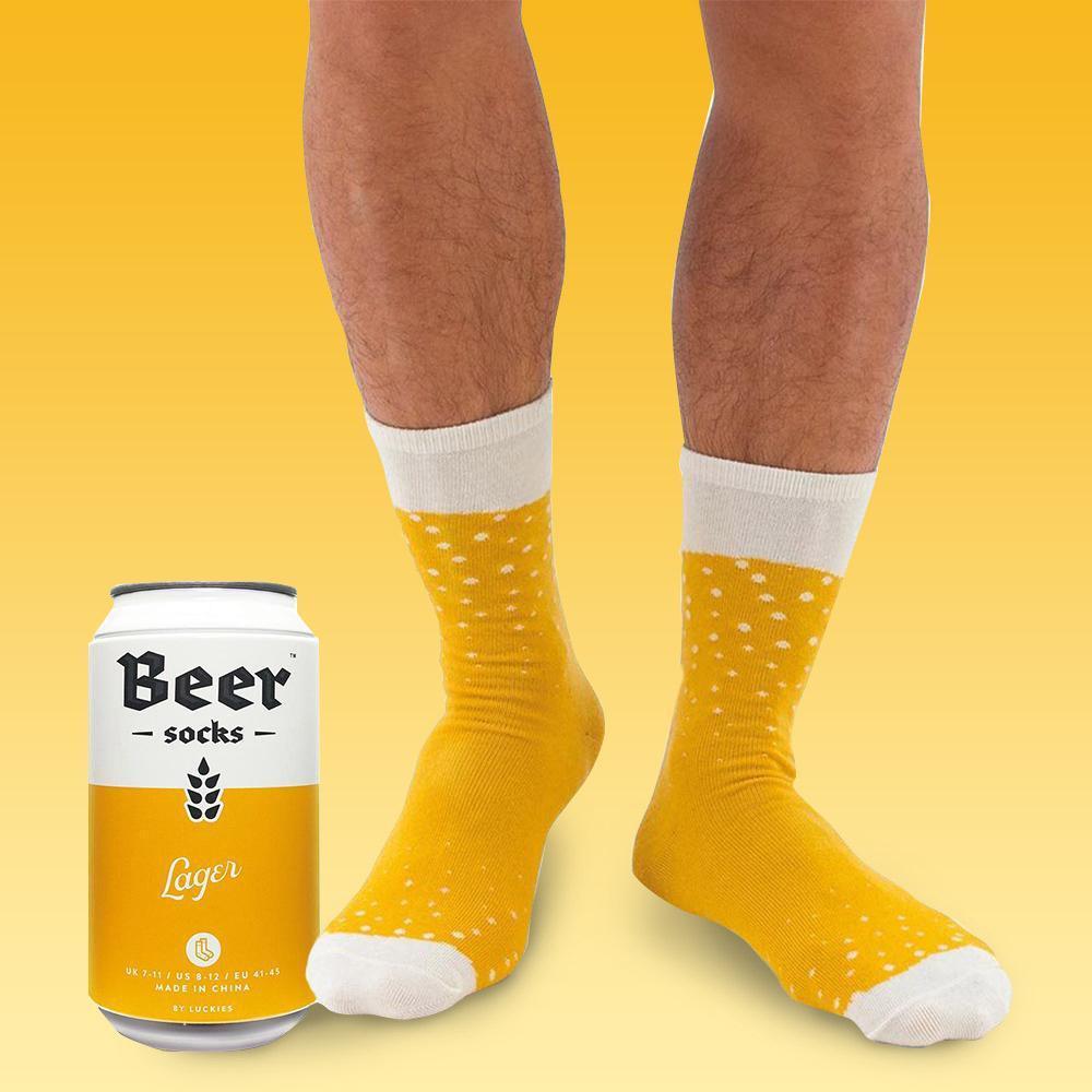 подарък за мъж - кутия с чорапи и бира