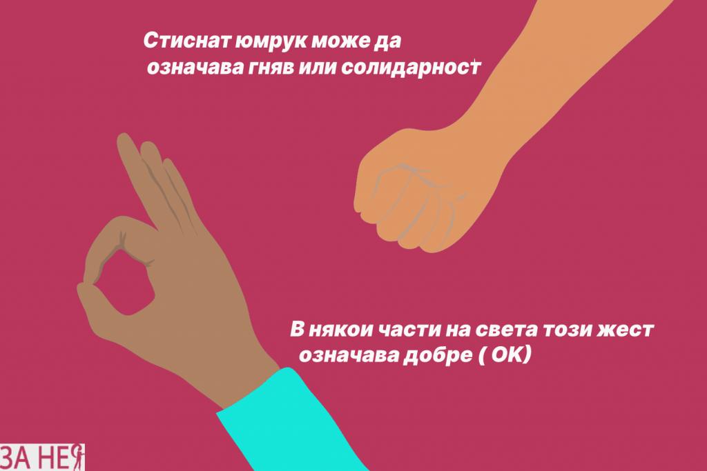 какво означават жестовете на ръцете