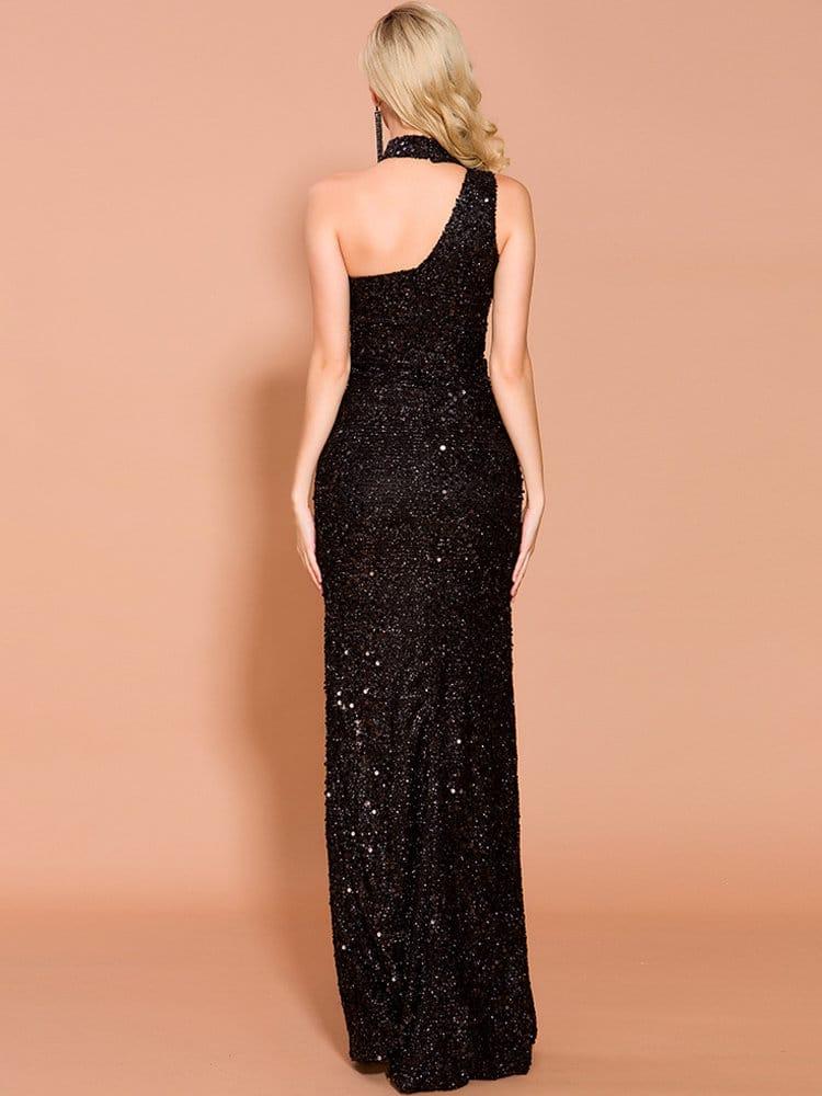 луксозана рокля с отворен гръб
