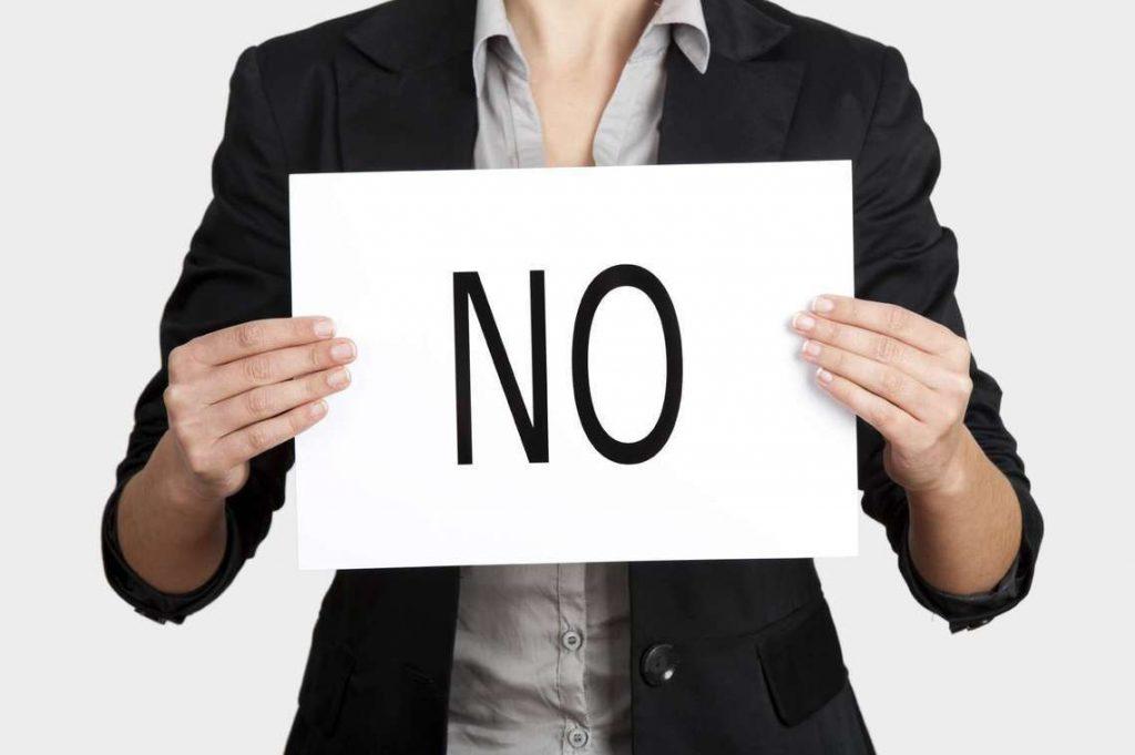 """Кажете """"не"""" с уважение."""